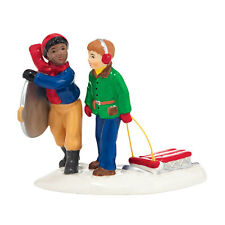 Department 56 Snow Village Downhill Buddies Accessory NEW 4036585 Sledding 2014