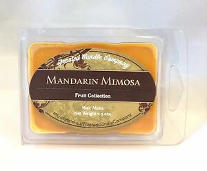 Mandarin Mimosa 2.5oz Soy Wax Melts Scent Fruit One Package Citrus Sugar Sweet