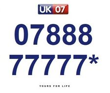 07888 77777* Numbers - Gold Memorable Platinum VIP Numbers, Yours For Life
