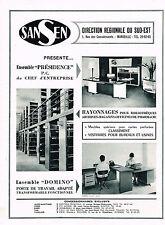 PUBLICITE ADVERTISING  1965   SANSEN    rayonnages vestiaires bureaux