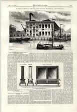 1890 Riverfront Refrigerating Works Shadwell Thwaite Heliograph Print Bath