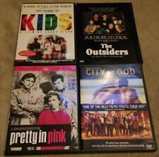 Kids, The Outsiders, Pretty In Pink & City Of God Dvd Lot