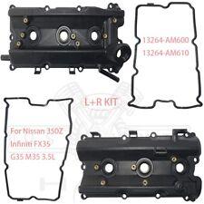 Engine Valve Cover w/ Gaskets L+R KIT for Infiniti FX35 G35 M35 Nissan 350Z 3.5L