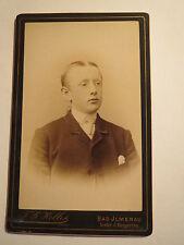 Bad Ilmenau - junger Mann im Anzug - Portrait / CDV