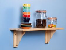 5 X Natural Wood Pine Shelf Kit 585mm Unfinished Storage Shelves Rounded Edge
