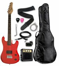 "Raptor 3/4 Scale 36"" Kid's Starter Electric Guitar Pack RED + AMP, BAG, TUNER"