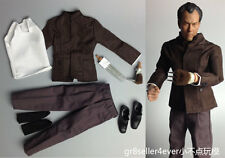 Custom Hot 1/6 scale Shih Kien Mr. Han suit clothes Enter The Dragon Bruce Lee