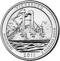 2011 D Vicksburg Mississippi America the Beautiful BU Quarter from US Mint Roll