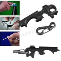 8 In 1 Stainless Steel Screwdriver Wrench Keychain EDC Pocket Multi Tool !