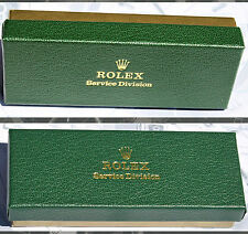 ROLEX SET ORIGINALE assistenza ROLEX SERVICE DIVISION scatola, panno e depliant