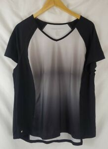 Ideology Athletic Top Women's Plus 2X Short Sleeve V-Neck Shirt