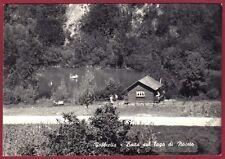 GENOVA ISOLA DEL CANTONE 10 VOBBIETTA LAGO di NOCETO Cartolina FOTOGR viagg 1958