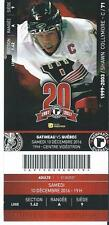 QMJHL Ticket - Quebec Remparts 20th Anniversary SHAWN COLLYMORE #71