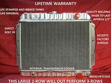 1959 1960 1961 1962 1963 CHEVROLET FULL SIZE CAR OR ELCAMINO ALUMINUM RADIATOR