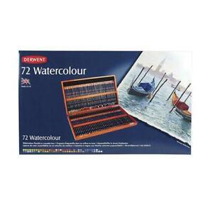 Derwent Watercolour Pencil Wooden Box - 72 Set