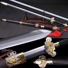 """High Quality Chinese Longquan Sword """"Qing Jian""""(劍) High Carbon Steel Sharp #3665"""