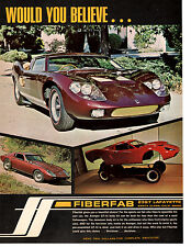 1969 FIBERFAB GT-12 BODY KIT  ~  GREAT ORIGINAL PRINT AD