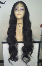 """28"""" #1B 9A Brazilian Virgin Body Wave 130% Density Full Lace Wig"""