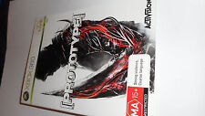 PROTOTYPE XBOX 360 GAME WITH BOOKLET