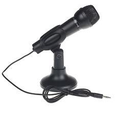 Hot For Desktop PC 3.5mm Net Chat KTV Speech Microphone MIC Stand Mount микрофон