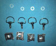 4 DZUS quart de tour inox couleur argent 17 mm pour fixation carénage