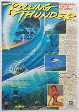 """""""Rolling Thunder"""" Scott Dittrich Orig 1991 Sci-Fi Surf Movie Poster 13.5"""" x 19"""""""