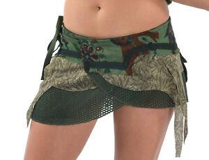 steampunk skirt, elf skirt, pixie skirt, gekko mini skirt, goa skirt, FESTIVAL
