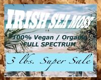 3 POUNDS IRISH SEA MOSS ORGANIC/ VEGAN ( FULL SPECTRUM) OCEAN HARVESTED