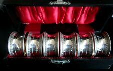 More details for lovely vintage cased set of 6 napkin rings excellent quality and condition