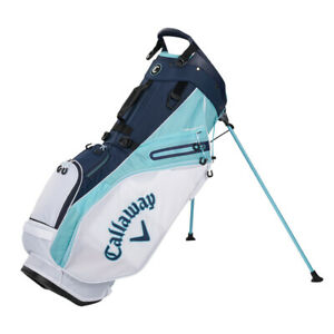 NEW Callaway Fairway 14 White/Blue/Navy Double Strap Stand Golf Bag