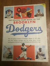 1955 The Golden State Book Of The Brooklyn Dodgers - Complete, Stickers Intact!