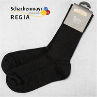 "3 Paar Regia Gr. 38/39 4-fach "" Schwarze Fertigsocken "" Farbe 2066 Schachenmayr"