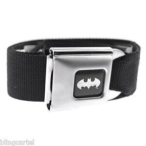 Batman DC Comics Black & Silver Licensed Seatbelt Seat Belt Style Buckle Down