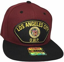City Of Los Angeles Water And Power Hat Color Marron Black DWP Hat Snapback