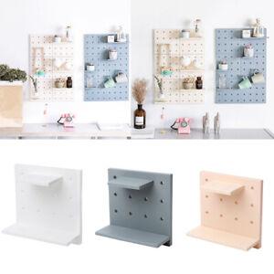 Blesiya Self-adhesive Plastic DIY Wall Storage Shelf for Kitchen Bathroom