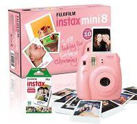 Fuji Instax Mini 8 Instant Kamera 10 Aufnahmen enthalten pink