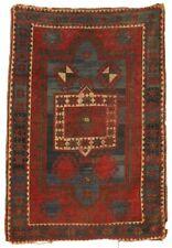 """19th C. Antique Oriental Carpet Caucasian Rug Kazak 73"""" x 48"""" Large"""