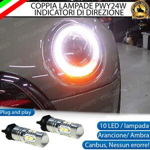COPPIA LAMPADE LED PWY24W MINI CLUBMAN F54 CANBUS 10 LED FRECCE ANTERIORI