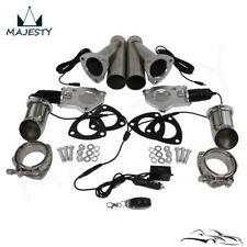 "3"" Dual Exhaust Catback Downpipe Cutout E-Cut Valve System Electric Control Kit"