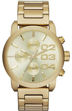 BRAND NEW DIESEL DZ5435 FLARE GOLD-TONE STAINLESS STEEL CHRONOGRAPH WOMENS WATCH