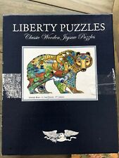 Liberty Puzzles Grizzly Bear Wooden Jigsaw Puzzle Sue Coccia 471 Pieces Amazing