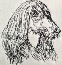 Completed Embroidery Afghan Hound Dog