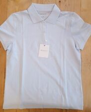 Ashworth Ladies Golf polo shirt cloud blue sz small