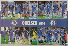 """FC CHELSEA """"18 SHOTS OF 2014 PLAYERS"""" POSTER - Terry,Lampard,Essien,Oscar,Hazard"""