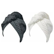 2 Pack TRÄTTEN Hair towel wrap, dark gray, white