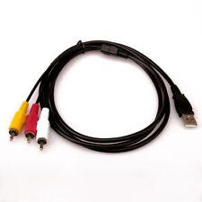 1.5m 5ft USB Male A to 3 RCA AV A/V TV Adapter Cord Cable for TV HDTV DVD 1080p