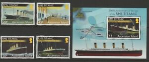 Ascension MINT 2012 Titanic set & sheet sg1134-1138 MNH