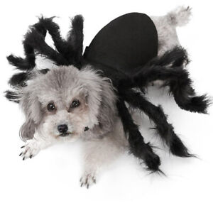 Halloween Pet Spider Clothes Puppy Plush Spider Cosplay Costume For Dogs Cat Hb