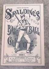 SPALDING MLB BASEBALL GUIDE - 1887 - HORTON REPRINT -  MINT