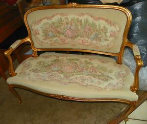 Gilded French Settee / Loveseat
